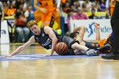 VALENCIA - MAY, 3: Diaz on the floor during a Spanish league match between Valencia Basket Club and