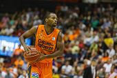 VALENCIA - MAY, 3: Lafayette with ball during a Spanish league match between Valencia Basket Club an
