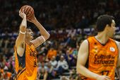 VALENCIA - MAY, 3: Lavrinovic with ball during a Spanish league match between Valencia Basket Club a