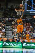 VALENCIA - MAY, 3: Lay-up of Lafayette during a Spanish league match between Valencia Basket Club an