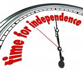 Time for Independence Words Clock Self Reliance