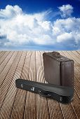 Old Suitcase And Violin Case