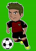 cartoon soccer player or sport man