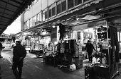 Tokyo, Japan- Nov 26, 2013: Tsukiji Market Is A Large Market For Fish In Central Tokyo.
