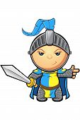 Blue and Yellow Knight Character