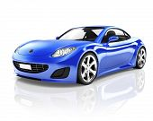 picture of status  - Sports 3D Car - JPG
