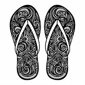 Vector Decorative Ornate Women's Slippers