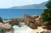 Beach Seychelles. Island La Digue.