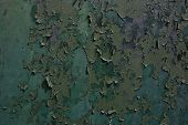 Green peeling paint texture background