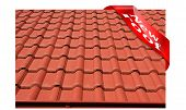 New roof covered with red concrete roofing