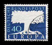 Germany Europa stamp 1957