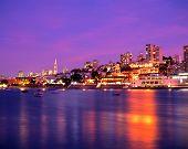 Harbour at dusk, San Francisco.