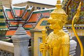 BANGKOK, THAILAND - MARCH 23: Wat Phra Kaew or Grand Palace exterior at day time on March 23, 2014 i