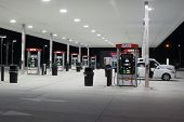 JACKSONVILLE, FL - MAY 5, 2014: A Gate Petroleum gas station at night in Jacksonville. Gate Petroleu