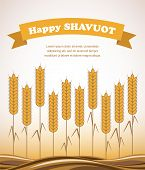 Gold wheat field , Shavuot card