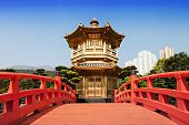 picture of hong kong bridge  - Nan Lian Garden Chi Lin Nunnery Hong Kong - JPG