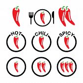 Chili-pepper-spicy-food-icons-set