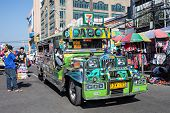 Jeepney On Manila Street