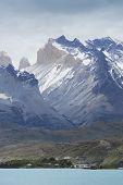 Torres Del Paine Peaks. Patagonian Landscape. Chile