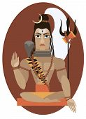 Shiva deity illustration.
