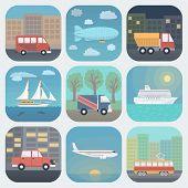 Transport App Icons Set