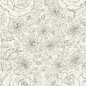 Seamless pattern from chrysanthemums