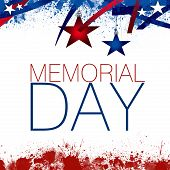 foto of patriot  - An abstract illustration of the Memorial Day - JPG