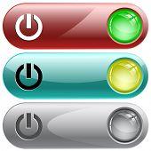 Switch element. Internet buttons. Raster illustration.