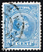 Postage Stamp Netherlands 1894 Princess Wilhelmina
