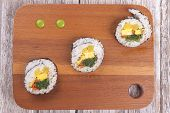 Wasabi Drops And Sushi.