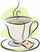 Illustration Featuring a Hot Cup of Tea