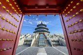 Temple of Heaven gateway in Beijing, China.