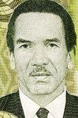 BOTSWANA - CIRCA 2009: Seretse Khama (1921-1980) on 10 Pula 2009 Banknote from Botswana. Statesman from Botswana.