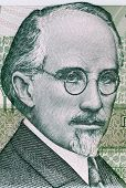 BULGARIA - CIRCA 1993: Dobri Christov (1875-1941) on 500 Leva 1993 Banknote from Bulgaria. Bulgarian composer.