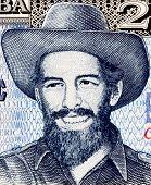 CUBA - CIRCA 2006: Camilo Cienfuegos (1932-1959) on 20 Pesos 2006 Banknote from Cuba. Cuban revolutionary.