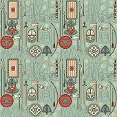 Seamless Viking Pattern 03