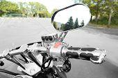 Motor bike detail, close-up