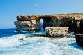 Natural rock arch in Malta Island