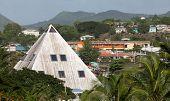 Pyramid Shaped Building In Tropics