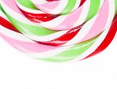 Lovely lollipop with stripes.