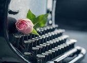 Old Antique Black Vintage Typewriter