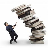 Businessman With Falling Book