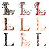 Various Combination Fishnet Letter L.
