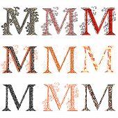 Various Combination Fishnet Letter M.