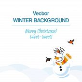 Vector background with snowman