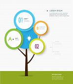 Minimal Infographic- Abstract Of Tree Label Concept