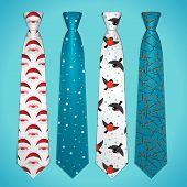 Vector set of neckties