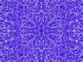 Cold Blue Kaleidoscope Pattern