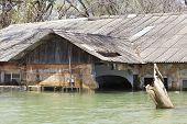 Flooded Resort At Lake Baringo In Kenya.