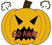 pumpkin face cartoon emotion expression rage